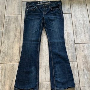 Low rise boot cut express jeans